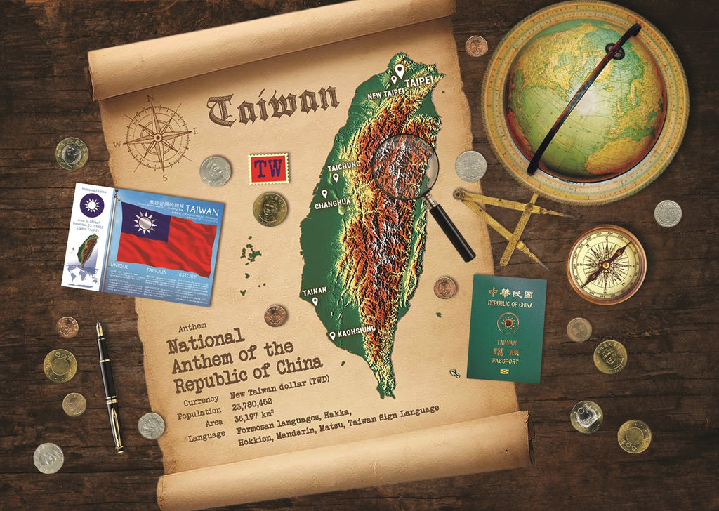 Taiwan Map Postcard World Explorer PWE - top quality approved by www.postcardsmarket.com specialists