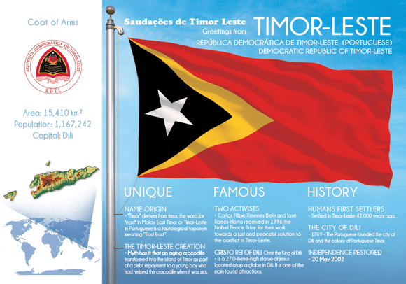 Asia | East Timor - FW - Timor-Leste (country No. 153) - top quality approved by www.postcardsmarket.com specialists
