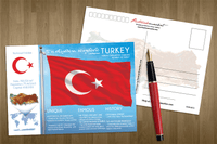 Asia | Europe | TURKEY - FW (country No. 17) - top quality approved by www.postcardsmarket.com specialists