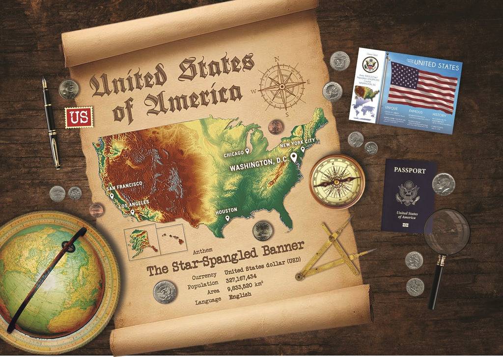 United States Map Postcard World Explorer PWE - Postcards Market