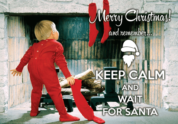 Photo: Keep calm and wait for Santa - Postcards Market