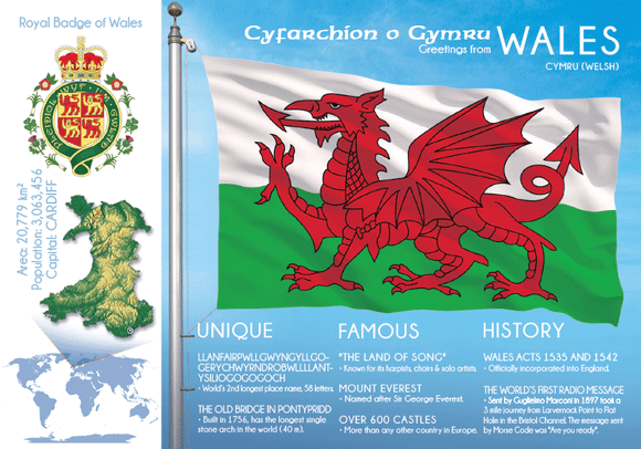 Europe | WALES - FW - top quality approved by www.postcardsmarket.com specialists