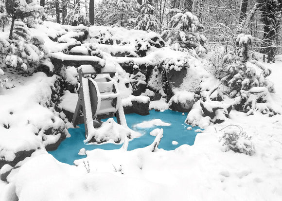 Photo: Winter waterfall (bundle x 5 pieces) - top quality approved by www.postcardsmarket.com specialists