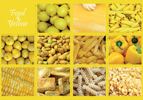 Photo: Food & Yellow (bundle x 5 pieces) - top quality approved by www.postcardsmarket.com specialists