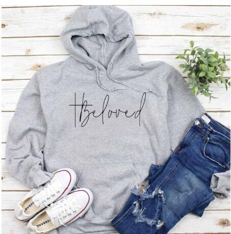 Beloved Graphic Christian Hoodie, jesus hoodie, - Heaven's Apparel