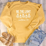Be The Light light Bulb Graphic Sweatshirt | Heavens Apparel