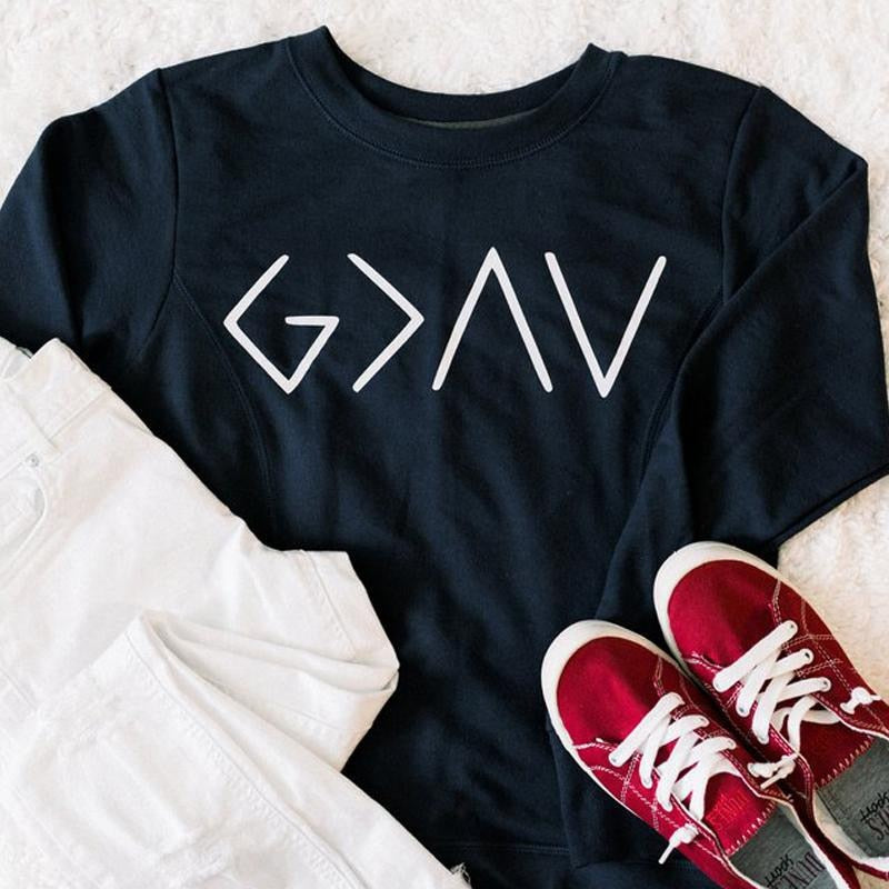 God Is Greater Than The Highs and Lows Sweatshirt | Heavens Apparel-Heaven's Apparel