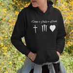 1 Cross 2 Nails 4Given Hoodie | Heavens Apparel