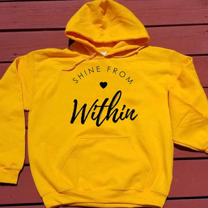 Shine From Within Hoodie | Heavens Apparel