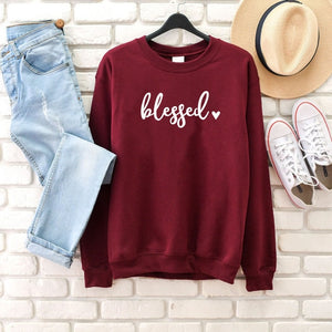 Blessed Heart Sweatshirt | Heavens Apparel-Heaven's Apparel