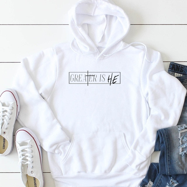 Greater Is He Hoodie | Heavens Apparel