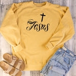 Jesus Cross Graphic Sweatshirt | Heavens Apparel