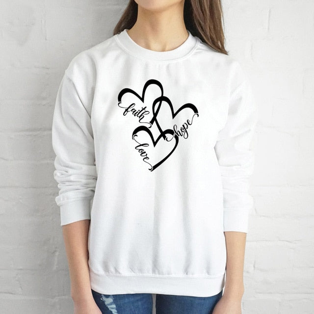 Faith Hope and Love Hearts | Heavens Apparel