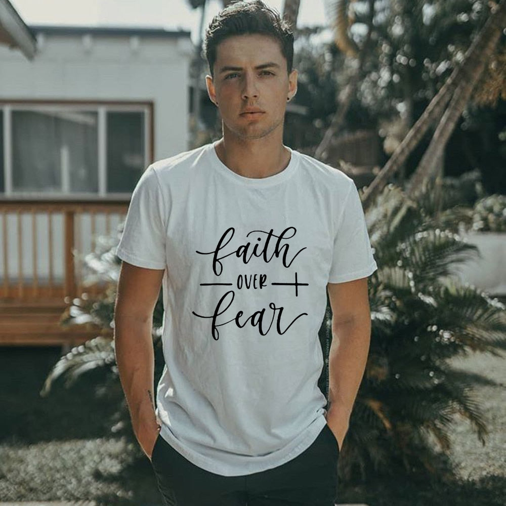 Jesus Faith Over Fear Summer T-Shirt