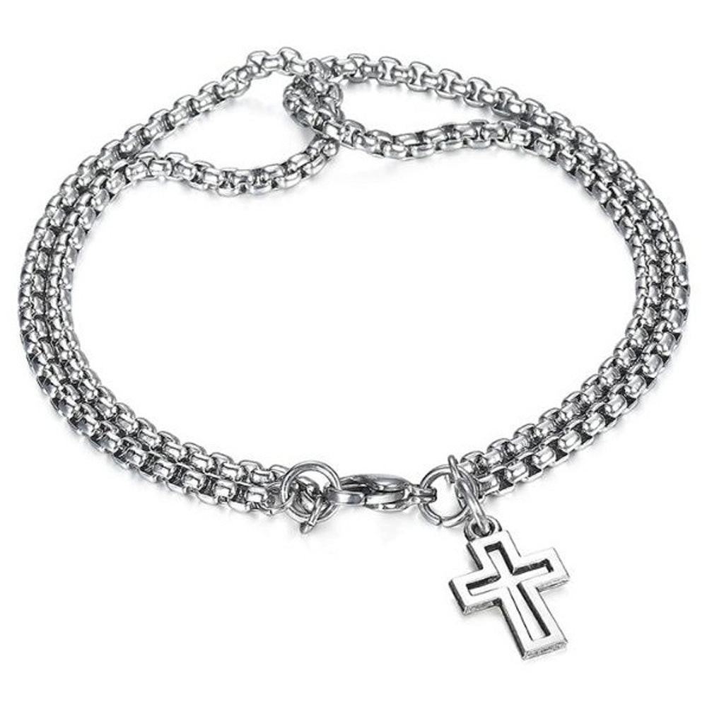 Double Layer Jesus Cross Chain | Heavens Apparel