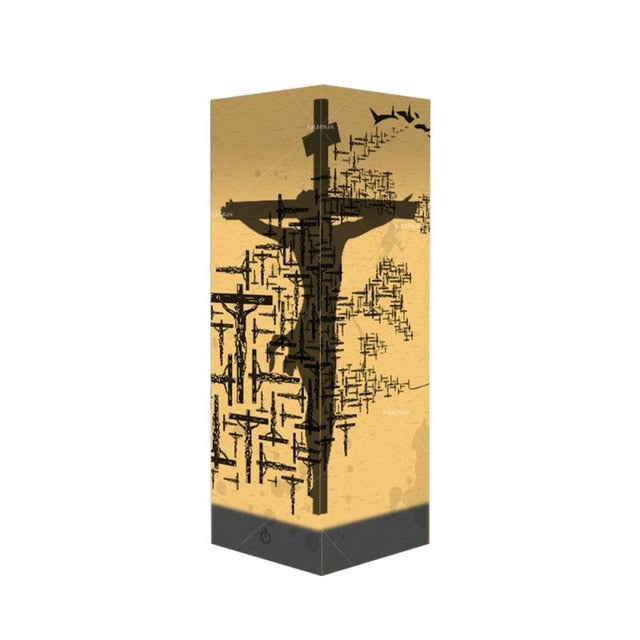 Jesus Cross Shadow Paper Lamp | Heavens Apparel