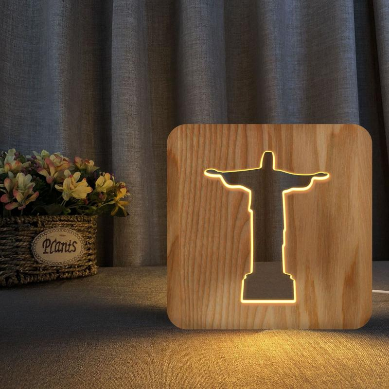 Wooden Christian Night Light | Heavens Apparel