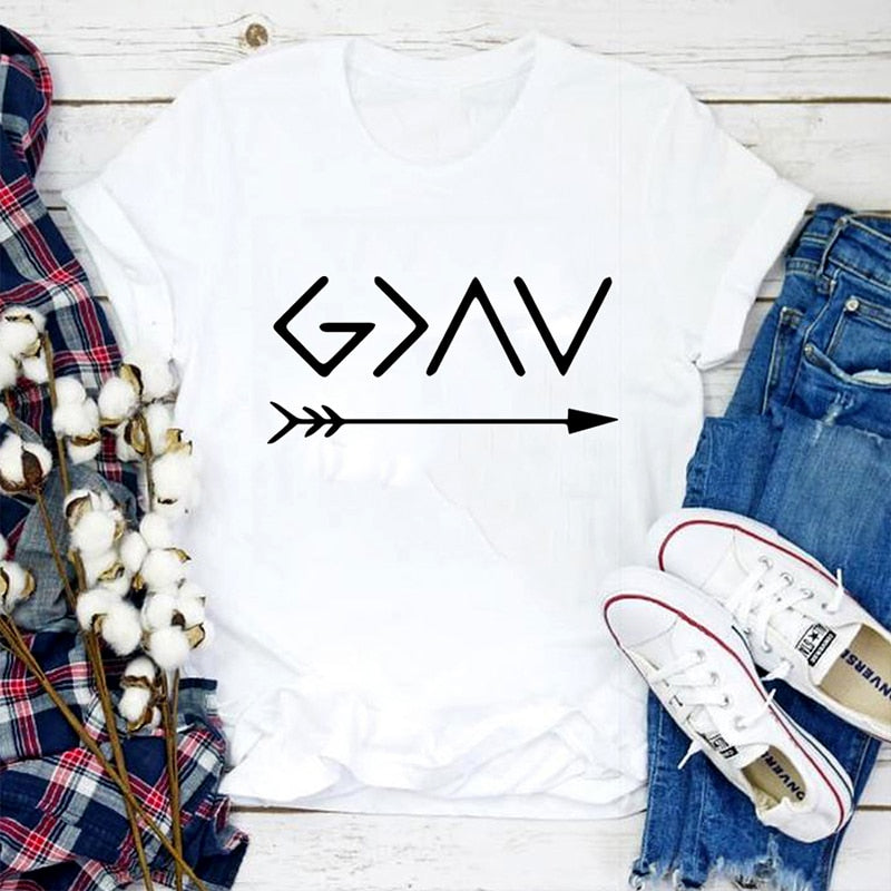 God Is Greater Than The High Lows T-Shirt | Heavens Apparel