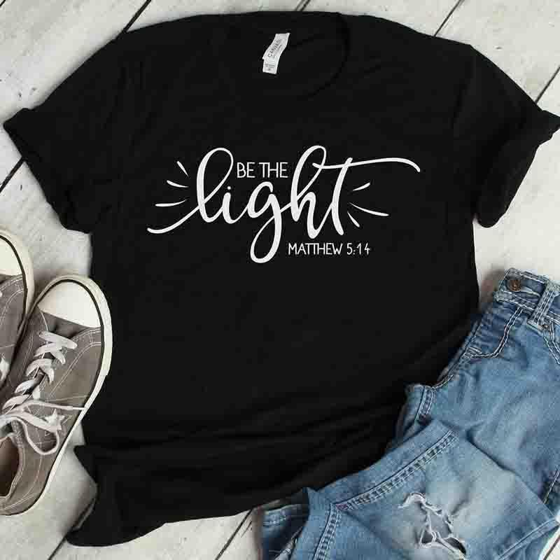 Psalm Life Be The Light Christian T-Shirt, christian t shirt, Unisex Religious Faith Tee - Heaven's Apparel