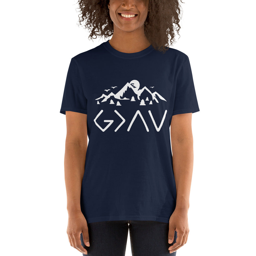 White God Is Greater Than The Highs and The Lows Christian T-shirt
