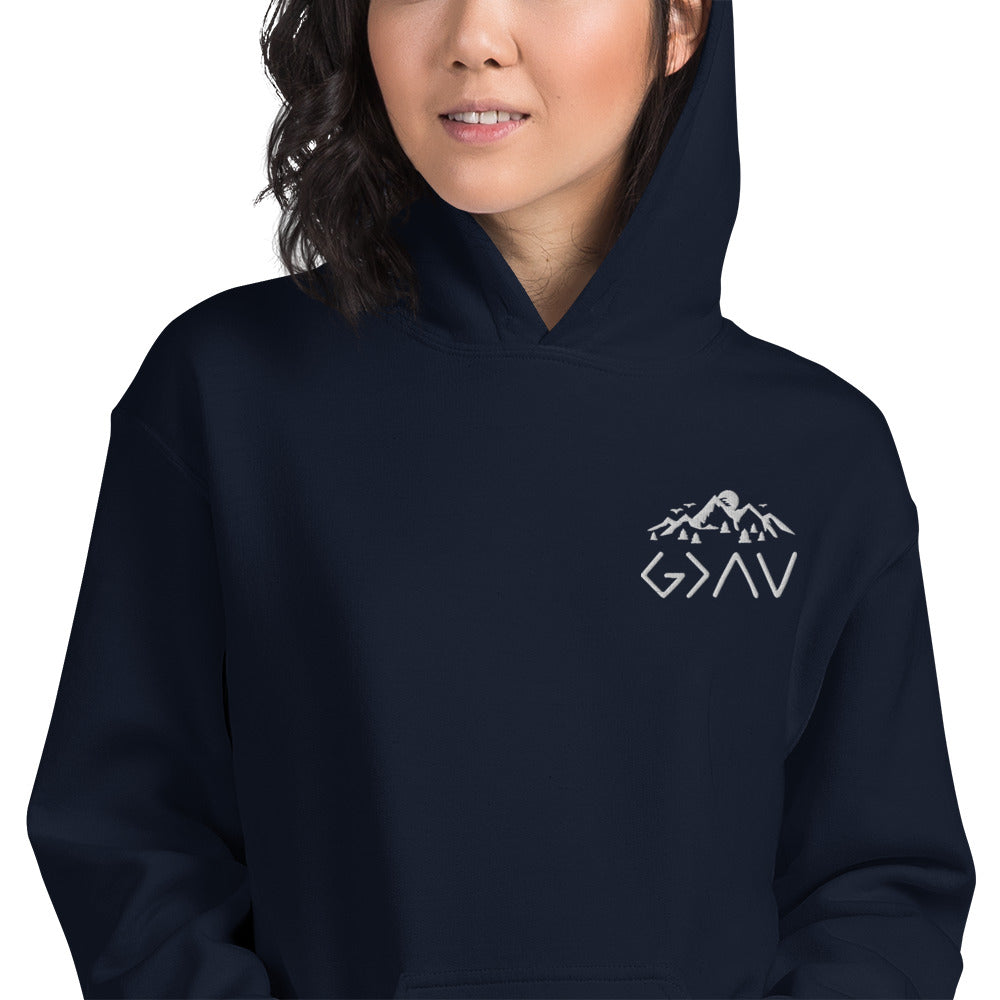 Embroidered God is Greater Unisex Hoodie