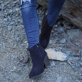 Cutelily Women Trendy Fall Chunky Booties (Ship in 24 hours)