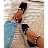 Cutelily Chic Flats Adjustable Buckle Sandals
