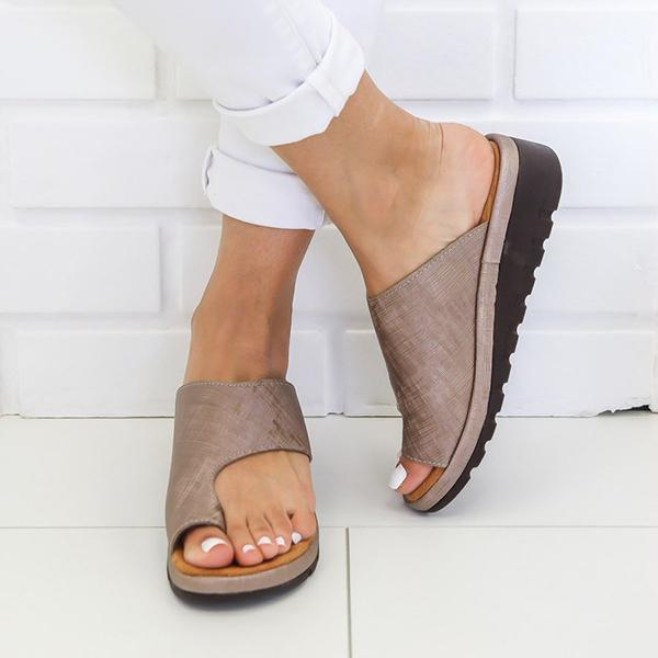 Cutelily Slip-On Comfy Platform Sandals