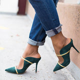 Cutelily Design Slip-On Point Toe High Heels