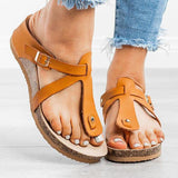 Cutelily Buckle Thong Flat Flip Flops Sandals (Ship in 24 hours)