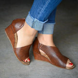 Cutelily Slip On Wedge Heels