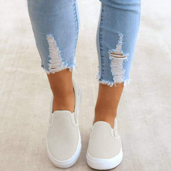 Cutelily Slip On Running Flat Sneakers (Ship in 24 hours)