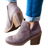 Cutelily Suede Chunky Boots