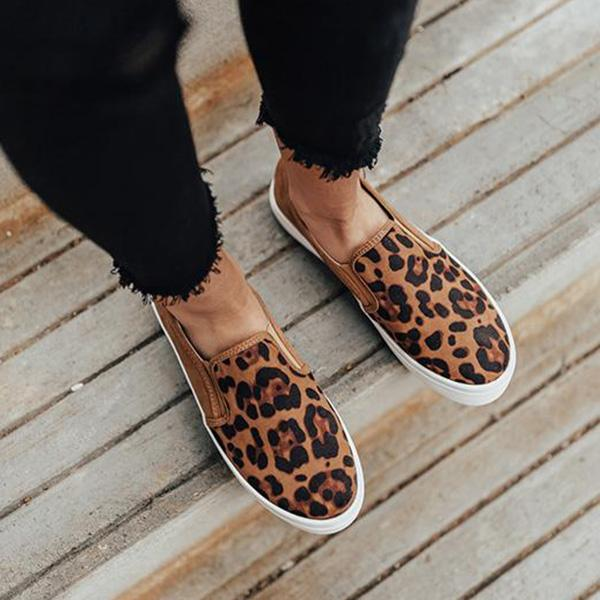 Cutelily Women Fashion Printed Flat Sneakers