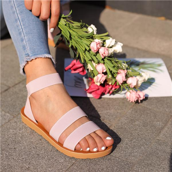 Cutelily Women Casual Slip On Flats Sandals