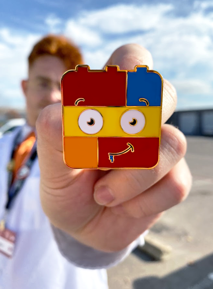 "SCP-387 The Living Lego ""Brickey"" Collectible Pin"
