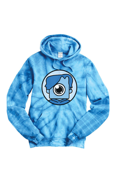 Blue Tie Dye Newscapepro Fortnite Hoodie - Newscape Studios