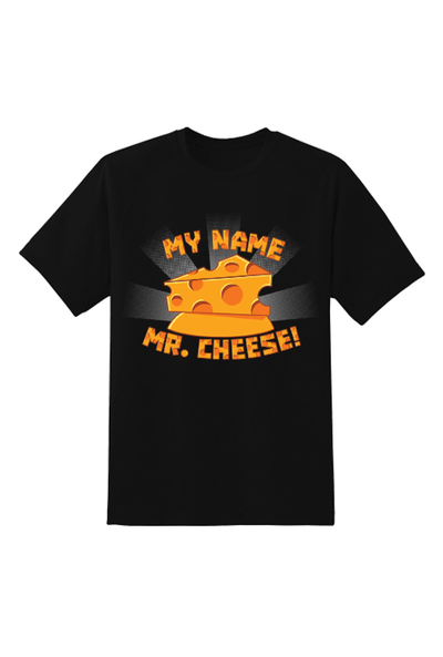 Mr. Cheese Gametoons T-Shirt Black - Newscape Studios