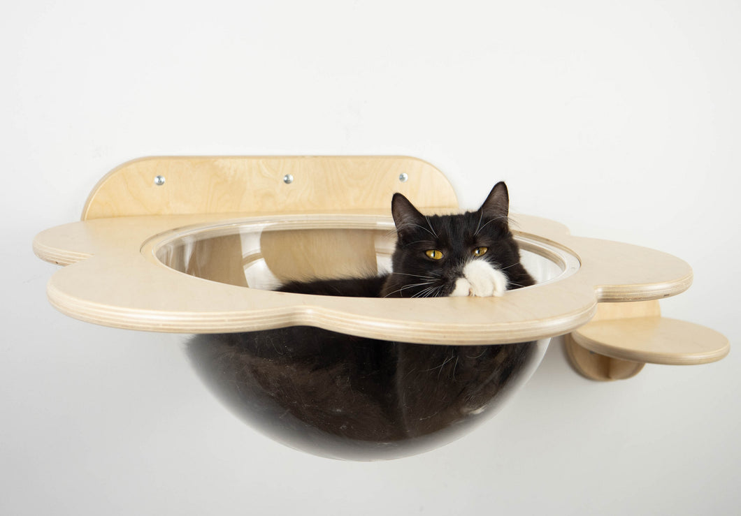 Wooden Shelf for cat in the shape of flower 5 colors
