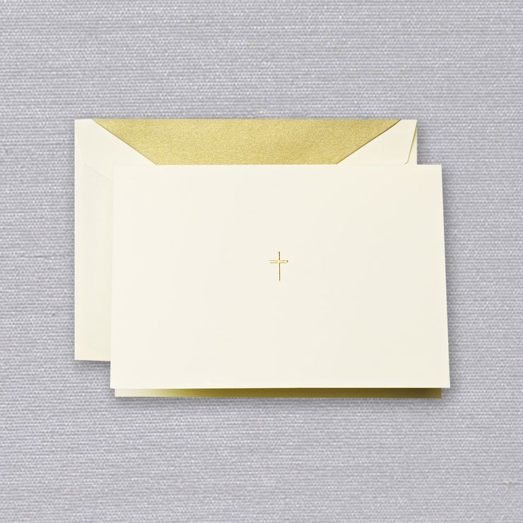 Crane Gold Cross Note