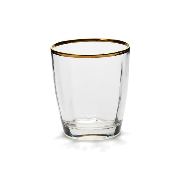 Vietri Optical Gold Double Old Fashioned