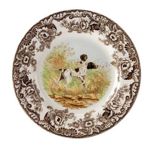 Spode- Flat Coat Pointer Salad plate