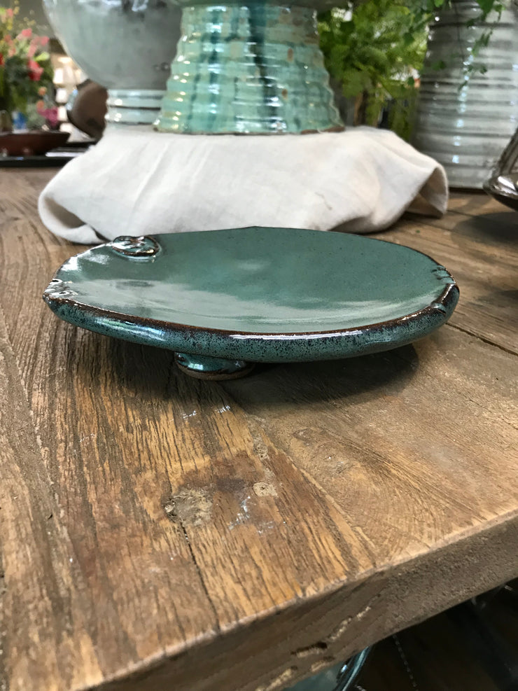 Rounded Salad Footed Plate