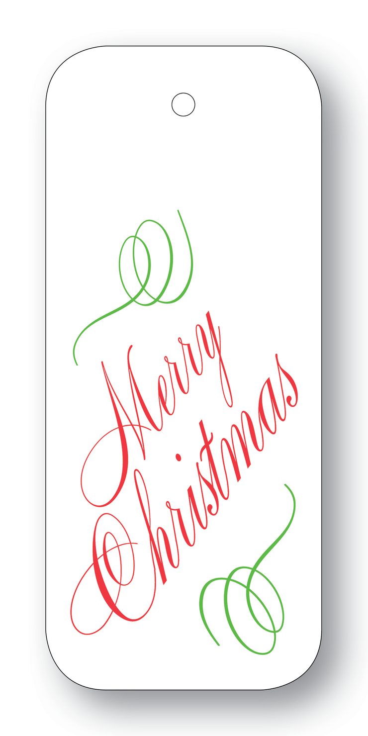 Merry Christmas Script Gift Tags