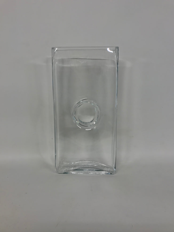 Tall Rectangular Glass Vase