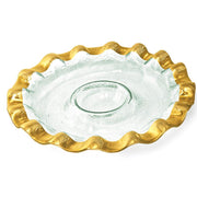 Ruffle Round Chip & Dip Server