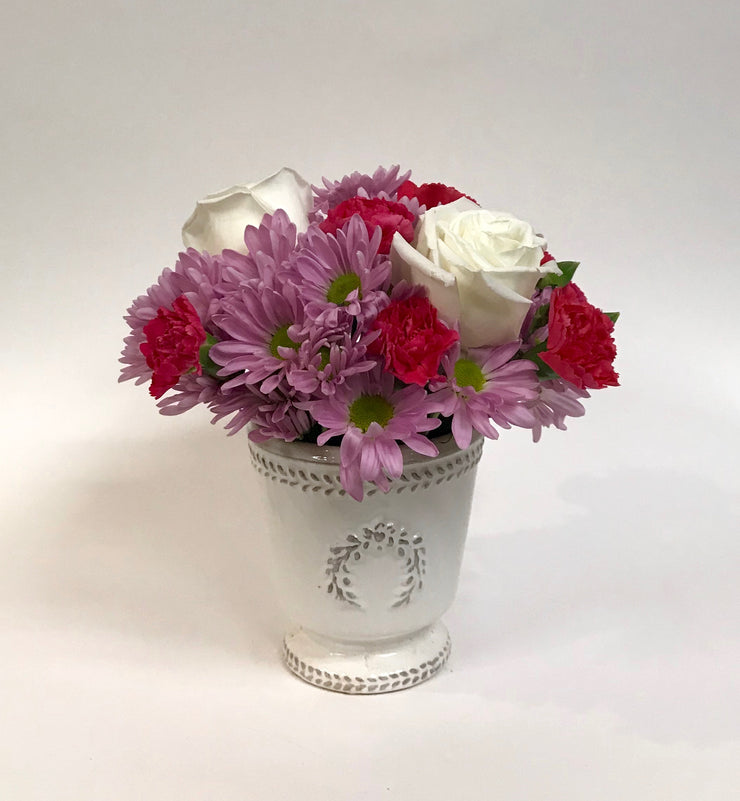 Wreath Valentine Vase Arrangement
