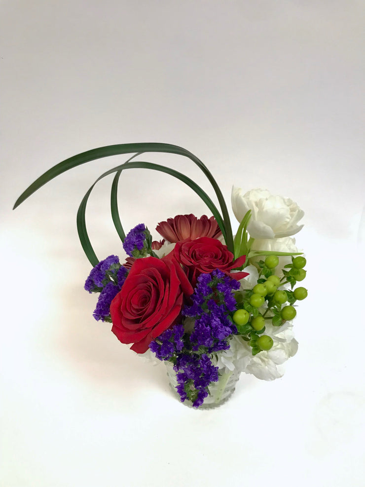 Glass Bubble Vase Arrangement