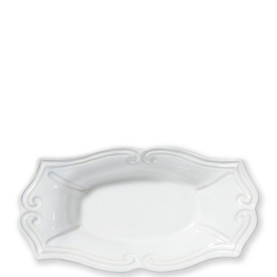 Vietri Incanto Stone White Baroque Medium Au Gratin