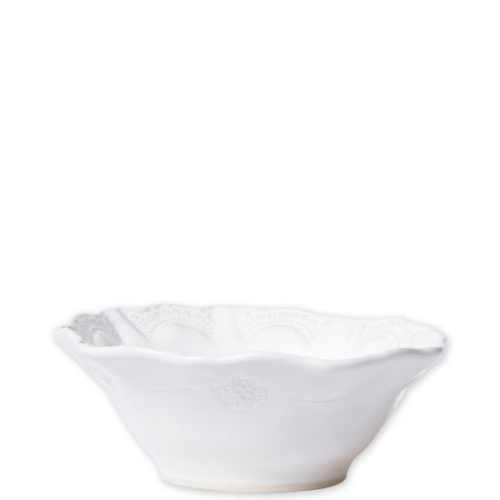 Vietri Incanto Stone White Lace Cereal Bowl
